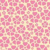 Vector pink flower seamless pattern background vector illustration