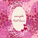 Vector pink frame for Valentine day Royalty Free Stock Photography