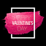 Vector pink glitter Valentine heart Royalty Free Stock Photography