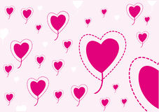 Vector pink heart balloon Stock Photo