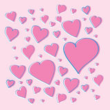 Vector pink hearts Stock Photo