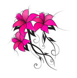 Vector pink lily Royalty Free Stock Image
