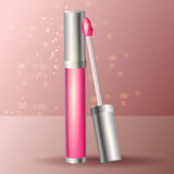Vector pink lipstick Royalty Free Stock Photography