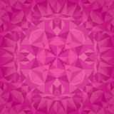 Vector Pink Magenta Crystal Triangles Texture Seamless Pattern. Festive and Glowing Repeat Surface Design. Great for. Valentine`s Day. Perfect for cards Stock Photo