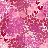 Vector pink pattern for Valentine day Stock Photography