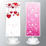 Vector pink pattern valentines day vintage lettering background Stock Photos