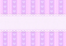 Vector pink and purple cute heart background Stock Photo