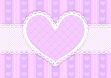 Vector pink and purple cute Valentines card Stock Photography