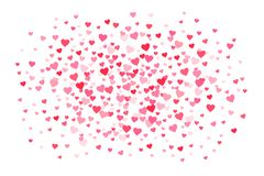 Vector pink & red Valentines Days hearts background stock illustration