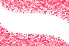 Vector pink & red Valentines Days hearts background.  royalty free illustration