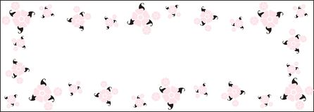Vector Pink Retro Flower Border Stock Photo