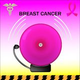 Pink alarm breast cancer Stock Photography