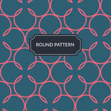 Vector pink round pattern Royalty Free Stock Photos