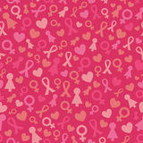 Vector Pink Seamless Pattern Stock Images