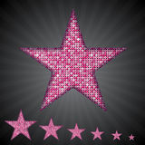 Vector pink sequin stars. Eps 10. Stock Images