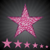 Vector pink sequin stars. Eps 10. Royalty Free Stock Image