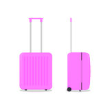 Vector pink travel bag.  on white. Stock Photography