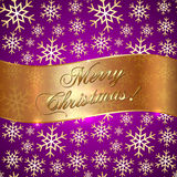 Vector Pink Violet Background with Snowflakes and Stock Photo