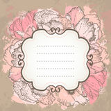 Vector pink wedding floral grunge background. Royalty Free Stock Photos