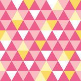 Vector pink and yellow triangle texture seamless repeat pattern background. Perfect for modern fabric, wallpaper Stock Photo