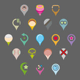 Vector pinpoint icon. Vector collection of pinpoint icon Stock Image