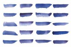 Vector pintado del fondo de la acuarela en azul ilustración del vector
