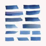 Vector pintado del fondo de la acuarela en azul stock de ilustración