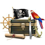 Vector Pirate Concept Stock Image