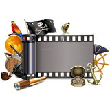 Vector Pirate Film Royalty Free Stock Image