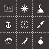 Vector pirate icon set Stock Images