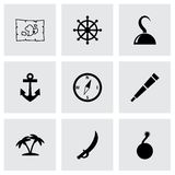 Vector pirate icon set Royalty Free Stock Photography