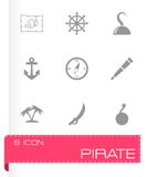 Vector pirate icon set Royalty Free Stock Photos