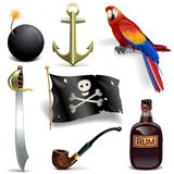 Vector Pirate Icons Set 2 stock illustration