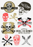 Vector Pirate Skull and Bones Set Stock Photos