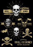 Vector Pirate Skull and Bones Set Royalty Free Stock Photography