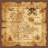 Vector Pirate Treasure Map Royalty Free Stock Images