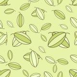 Vector pistachio seamless Stock Image