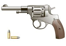 Vector Pistol Royalty Free Stock Image