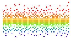 Vector pixel Royalty-vrije Stock Afbeeldingen