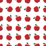 Vector pixel apples seamless pattern Royalty Free Stock Image