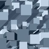 Vector Pixel Architecture Pattern Royalty Free Stock Image