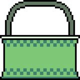 Vector pixel art bag. Isolated Royalty Free Stock Photography