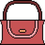 Vector pixel art bag. Isolated Royalty Free Stock Images