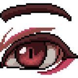 Vector pixel art beautiful eye. Isolated cartoon Royalty Free Stock Photo