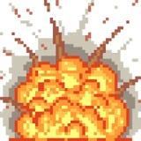 Vector pixel art blast. Isolated royalty free illustration