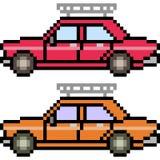 Vector pixel art car Stock Photos