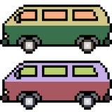 Vector pixel art car Stock Image