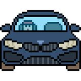 Vector pixel art car front. Isolated Stock Photos