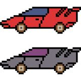 Vector pixel art car. Isolated Stock Images