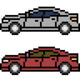 Vector pixel art car Stock Photo
